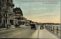 Crest Hall and Ocean View Hotel, Winthrop Shore Drive