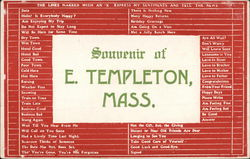 Greetings from East Templeton Postcard