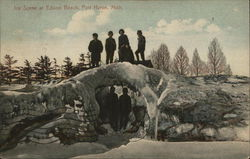 Ice Scene at Edison Beach