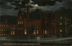 Public Library and Y.M.C.A. at Night
