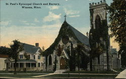 St. Paul's Episcopal Church and Rectory Postcard