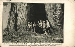 California State Redwood Park - Hollow Tree at Governor's Camp