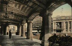 Entrance to the Chateau Laurier showing Grand Trunk Central Station