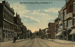 Main Street, Looking West Postcard