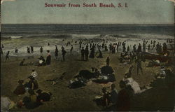 Souvenir from South Beach, Crowded Beach Scene