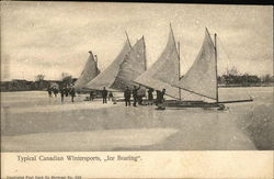 Canadain Wintersport - Ice Boating