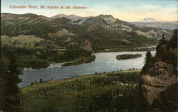 Columbia River, Mt. Adams in the Distance Postcard