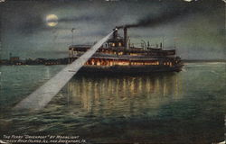 "The Ferry ""Davenport"" by Moonlight"
