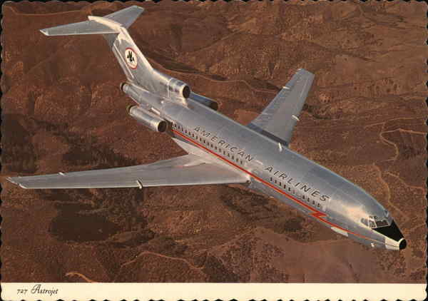 American Airlines 727 Astrojet Aircraft
