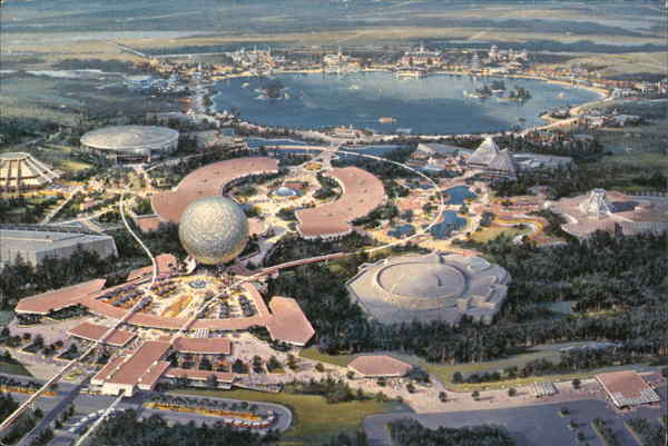 600-Acre Showplace, Epcot Center Orlando Florida Disney