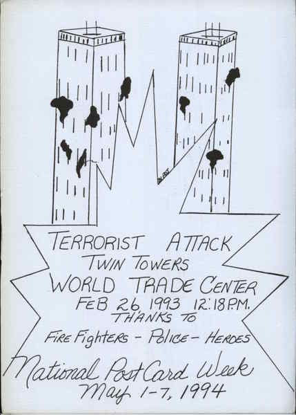 1994 Terrorist Attack, Twin Towers, World Trade Center Drawing by Phillip Jackson Merrillville Indiana