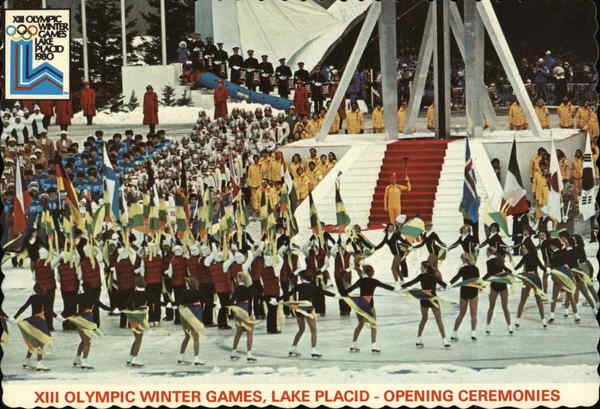 XIII Olympic Winter Games, Opening Ceremonies Lake Placid New York