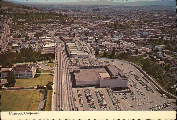Aerial View Looking South on Foothill Boulevard Hayward California