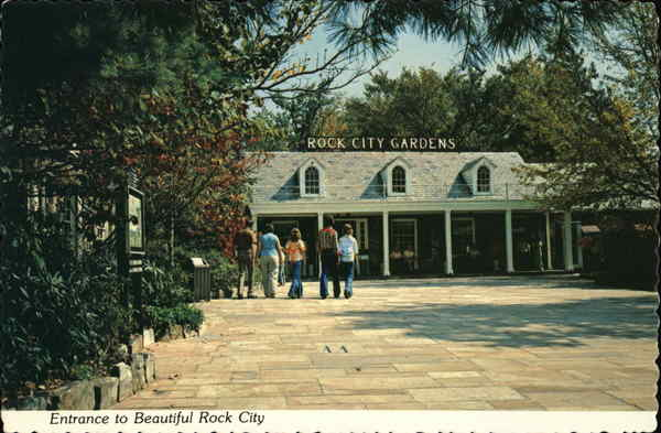 Rock City Gardens, Lookout Mountain - Entrance Chattanooga Tennessee