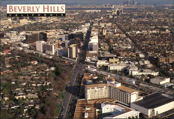 Aerial View of City Beverly Hills California James Blank
