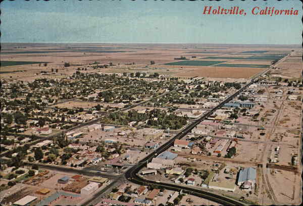 Aerial View of Town Holtville California