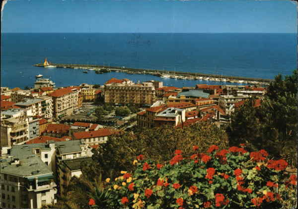 Panoramic View of City San Remo Italy