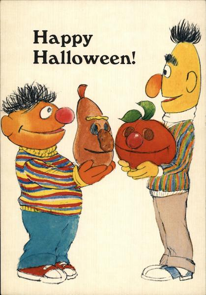 Carving Pumpkins with Bert and Ernie Halloween