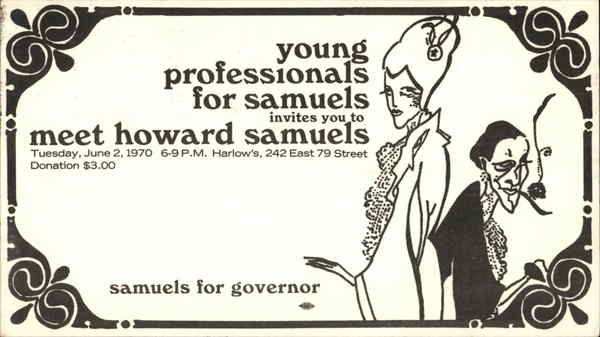 Young Professionals for Samuels: Howard Samuels Political
