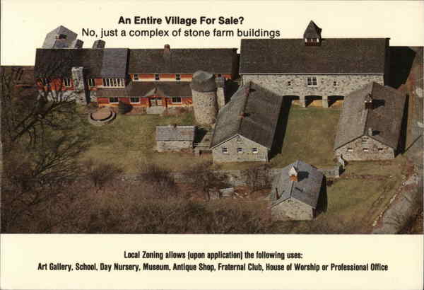 A Complex of Stone Farm Buildings for Sale by Margaret Dixon Salem Connecticut