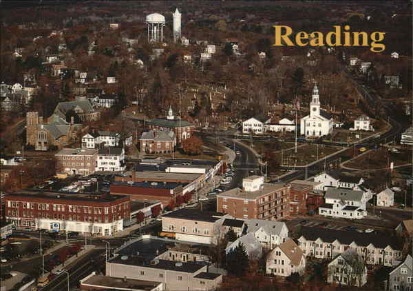Aerial View of Reading Massachusetts