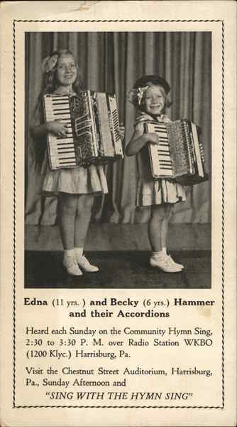 Edna and Becky Hammer and their Accordions Music and Literature