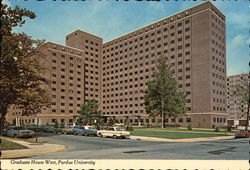 Purdue University - Graduate House West Postcard