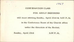 Confirmation Class for Adult Inquirers, St. Paul's Episcopal Church