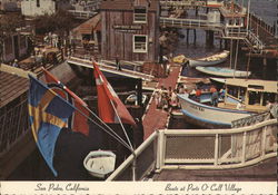 Boats at Ports O'Call Village Postcard