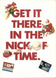 Get It There in the Nick of Time, US Post Office Postcard