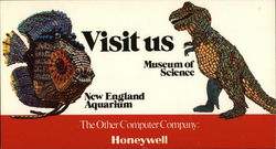 Museum of Science and New England Aquarium Postcard