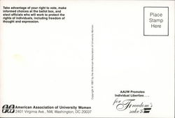 American Association of University Women: Promote Individual Liberties