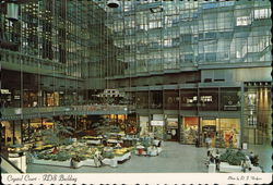 The Crystal Court - IDS Building Postcard
