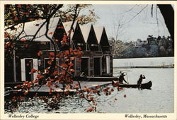 Wellesley College - Boat House, Lake Waban