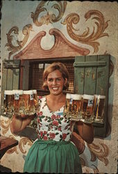Barmaid Serving Lowenbrau Beer, New York World's Fair