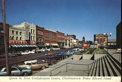 Queen St. From Confederation Centre Postcard