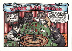 The Panacea Cats of Florida Visit Las Vegas, National Postcard Week 1995
