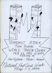 1994 Terrorist Attack, Twin Towers, World Trade Center Drawing by Phillip Jackson