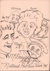 Drawing of McDonald's Characters: National Post Card Week 1994