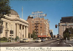 Washoe County Court House, Riverside and Mapes Hotels
