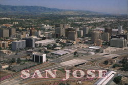 Aerial of Downtown San Jose
