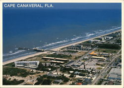 Aerial View of Cape Canaveral and Canaveral Pier