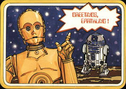 Greetings from C-3PO and R2-D2