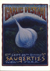 Hudson Valley Garlic Festival, 1993 Postcard