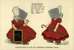 Illustration of the Old Fashioned Sunbonnet Dolls