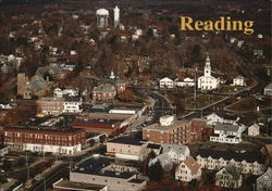 Aerial View of Reading Postcard
