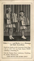 Edna and Becky Hammer and their Accordions Postcard