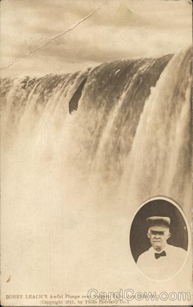 Bobby Leach's Awful Plunge Over Niagara Falls, 1911 New York