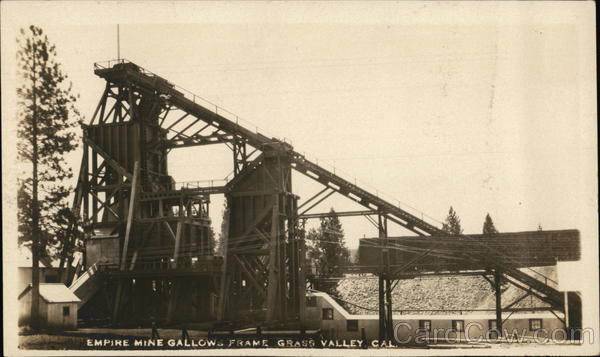 Empire Mine Gallows Frame Grass Valley California