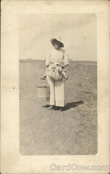 Woman Working in Field Women